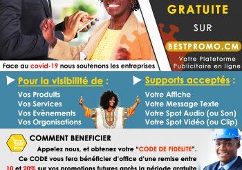 BESTPROMO CAMEROUN : COVID19 – Soutien Aux Entreprises Et Promoteurs