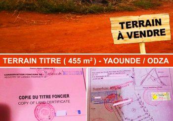 TERRAIN TITRE A VENDRE – Yaoundé/ODZA