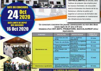 IMEFAC : Avis De Concours – Formation Aux Métiers Ferroviaires